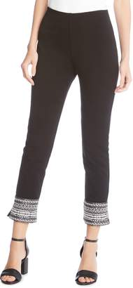 Karen Kane Contrast Hem Piper Ankle Skinny Pants