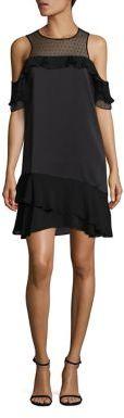 Parker Quinn Ruffle Cold-Shoulder Dress $298 thestylecure.com