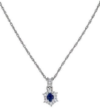 Platinum Sapphire & Diamond Necklace