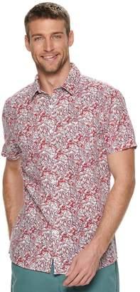 Marc Anthony Men's Slim-Fit Linen-Blend 1-Pocket Button-Down Shirt