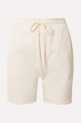 TWENTY Montréal - Pride Satin-trimmed French Cotton-blend Terry Shorts - Cream