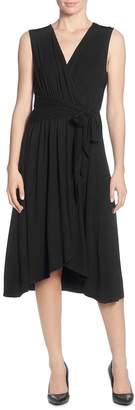 T Tahari Sleeveless Faux-Wrap Dress