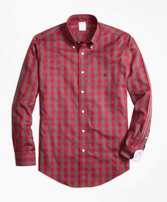 Brooks Brothers Non-Iron Regent Fit Prince Charles Edward Stewart Tartan Sport Shirt