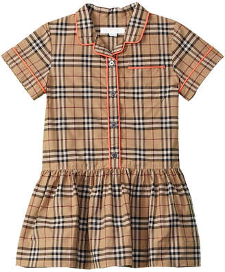 Burberry Girls' Checked Shirtdress
