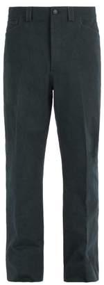 Lanvin Straight Leg Cotton Trousers - Mens - Grey
