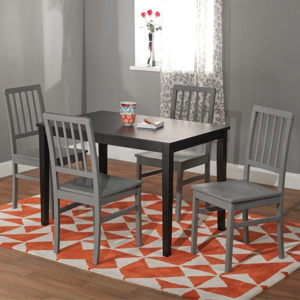 Simple Living Black and Grey 'Camden' 5-piece Contemporary Dining Set