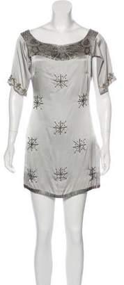 Sheri Bodell Beaded Mini Dress