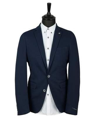 Remus Uomo Top Stitch Jersey Blazer Colour: NAVY, Size: 38