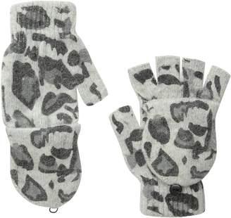 La Fiorentina Women's Animal Print Flip-Top Gloves
