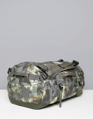The North Face Base Camp Duffel Bag Small 50 Litres in Tropical Camo/Green