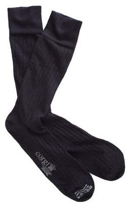 Corgi Solid Navy Dress Socks
