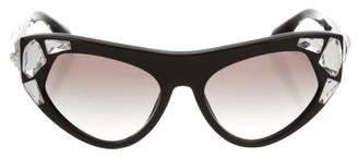 Prada Jewel-Embellished Gradient Sunglasses w/ Tags