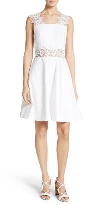 Women's Ted Baker London Monaa Lace Trim A-Line Dress $335 thestylecure.com