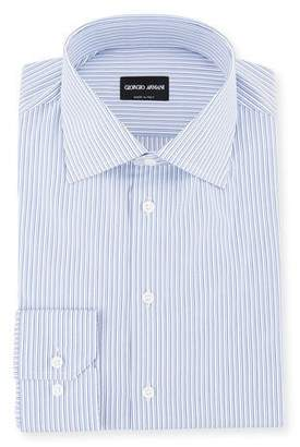 Giorgio Armani Men's Shadow-Striped Cotton Dress Shirt