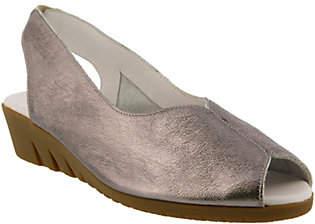 Spring Step Leather Peep-Toe Sandals - Listone