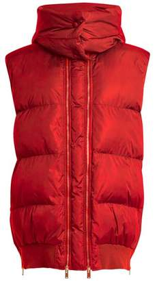 Stella McCartney Detachable Hood Quilted Gilet - Womens - Dark Red