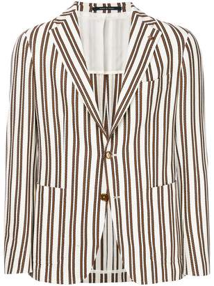 Tagliatore unstructured striped jacket