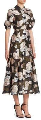 Erdem Gisella Button-Front Midi Dress