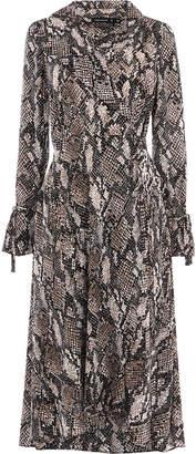 Karen Millen Snakeskin Print Midi Dress