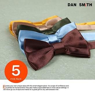 IDEA DBF1015 Absolutely Goods Multicoloured Plain Woven Microfiber 5 Bowties Set Elegant Gift By Dan Smith