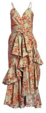 Johanna Ortiz Rhapsodie Ruffle Printed Dress