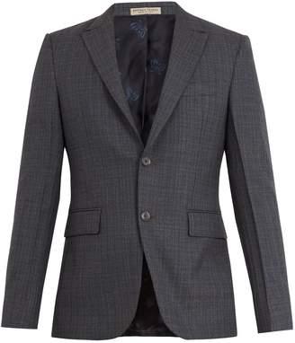 Bottega Veneta Windowpane-checked wool-blend blazer