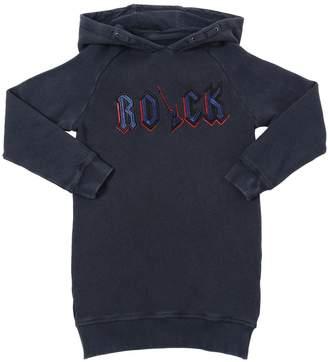 Zadig & Voltaire Hooded Rock Embroidered Sweatshirt Dress