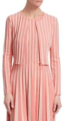 Akris Punto Striped Bolero Cardigan