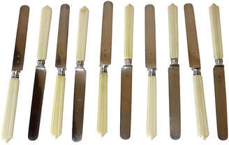 One Kings Lane Vintage Antique Sterling Silver Knives - Set of 10