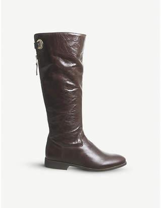 29f3f01fdd6 Back Zip Knee High Boots - ShopStyle UK