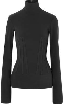 Ellery Art Brut Stretch-crepe Turtleneck Top - Black