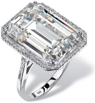 FINE JEWELRY Diamonart Womens Greater Than 6 CT. T.W. White Cubic Zirconia Cocktail Ring