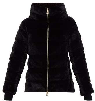 Herno Faux Fur Funnel Neck Jacket - Womens - Black