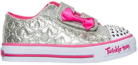 Skechers Girls' Toddler Twinkle Toes: Shuffles - Starlight Style Casual Shoes