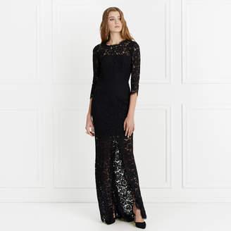 Rachel Zoe Carolyn Open Back Lace Gown