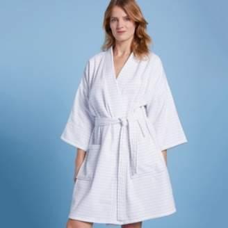 c95e632d57 The White Company Cotton Stripe Kimono Robe