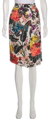 Dries Van Noten Knee-Length Floral Patterned Skirt