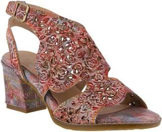Spring Step L`Artiste by Leather Ankle Strap Sandals - Giti