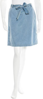 A.P.C. Chambray Mini Skirt $65 thestylecure.com