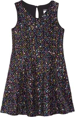 Zunie Velvet Sequin Embellished Dress