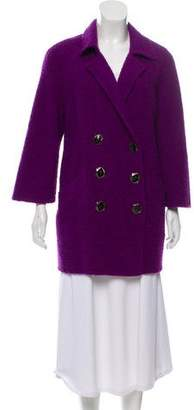 Oscar de la Renta Wool & Alpaca-Blend Bouclé Coat