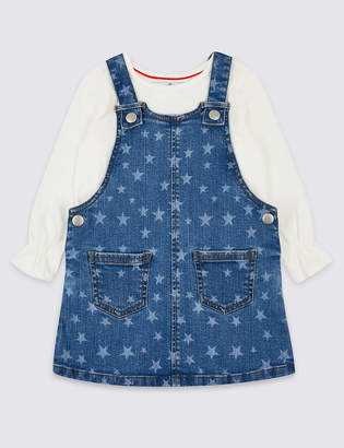 Marks and Spencer Denim Pinafore with Top (3 Months - 7 Years)