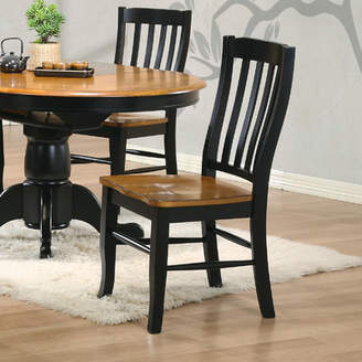 Three Posts Courtdale Back Solid Wood Dining Chair (Set of 2)
