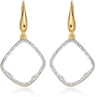 Monica Vinader Riva Diamond Hoop Earrings