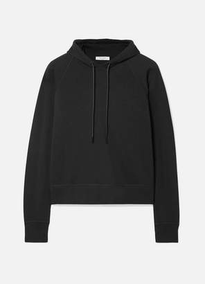 Rag & Bone Cropped Stretch Modal-blend Jersey Hoodie - Black