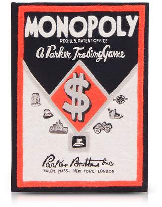 Olympia Le-tan Cotton And Wool Monopoly Parker Trading Game Book Clutch
