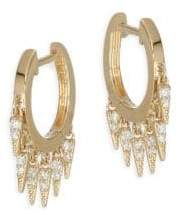 Sydney Evan 14K Yellow Gold& Diamond Small Fringe Hoops