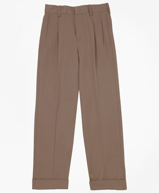 Brooks Brothers Boys Pleat-Front Gabardine Junior Trousers