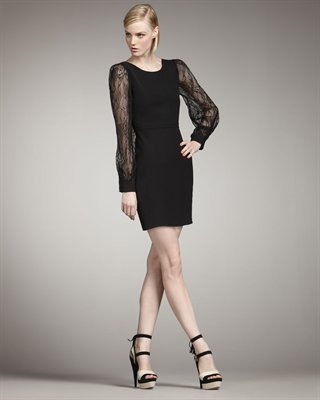 Rachel Zoe Andrews Lace-Sleeve Dress