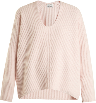 Acne Studios Deborah oversized V-neck wool sweater